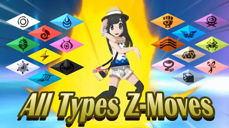 Pokémon Sun Moon Z-Moves