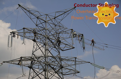 Conductor Stringing of 230kV Overhead Electrical Power Transmission Line