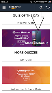 Huawei P20 Pro Quiz Answer