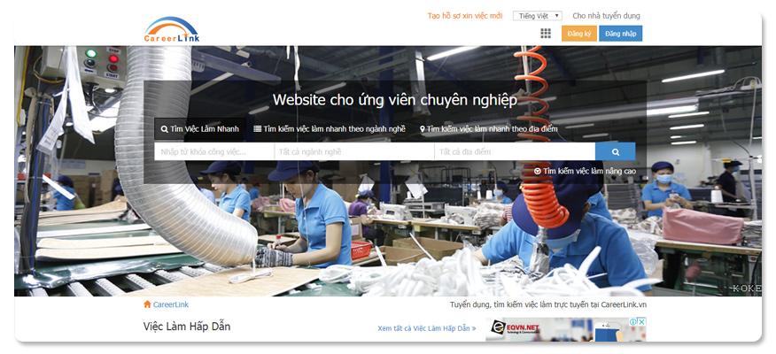 Website tuyển dụng việc làm CareerLink.vn