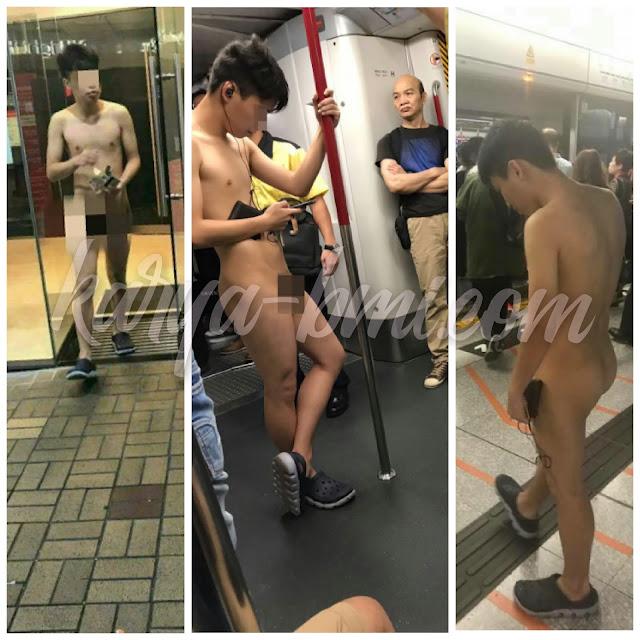Pemuda Telanjang Di Dalam MTR, Hebohkan Penumpang