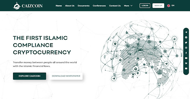Screenshot Website Caizcoin (CAIZCOIN)