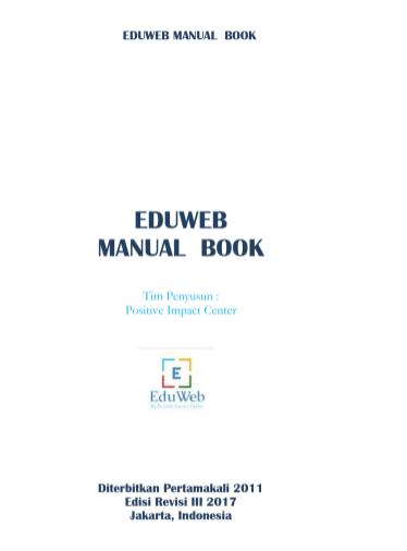 EduWeb Manual Book : Cara Menggunakan Website CMS Blogger