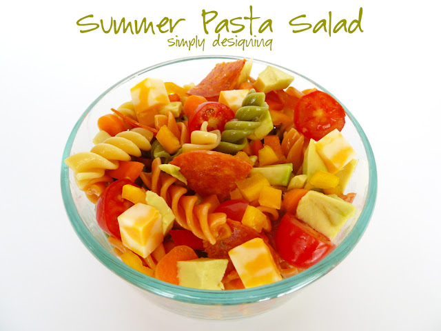 summer pasta salad 1 Zesty Avocado Pasta Salad + Giveaway! #GetZesty #giveaway #sponsored 18