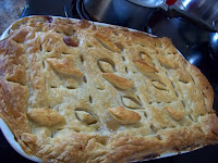 Turkey Pot Pie with Pufff Pastry topping