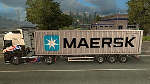Maersk trailer mod updated