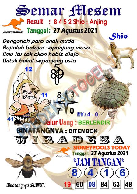 Syair Semar Mesem SDY Jumat 27-Agt-2021