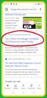 Seo friendly template