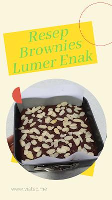 Resep Brownies Coklat Lumer, Enak, Mantap dan Sederhana
