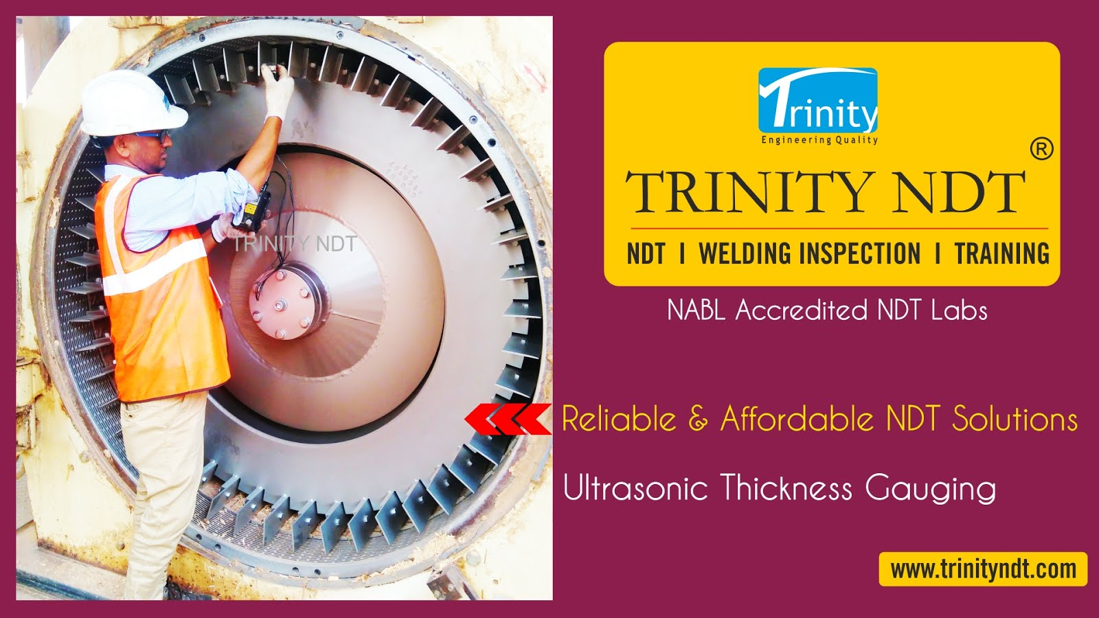 Ultrasonic Thickness Gauging Ultrasonic Inspection NDT labs- Trinity NDT
