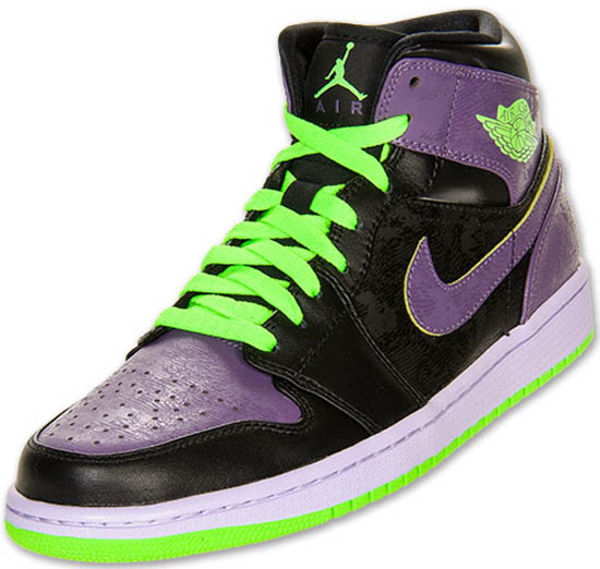separation shoes 8141c d9e0f Coming in a black, electric green, canyon purple and pure violet colorway.  This Air Jordan 1 Retro Mid has also been nicknamed the