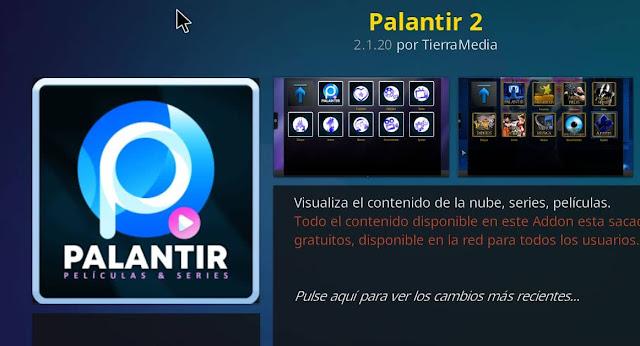 Nueva actualización PALANTIR 2
