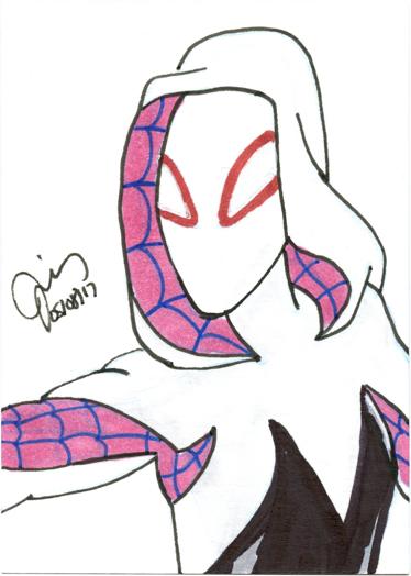 Spider-Gwen Sketch Card