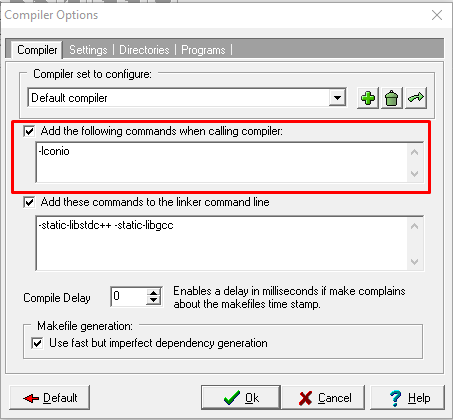 Setting Compiler Option