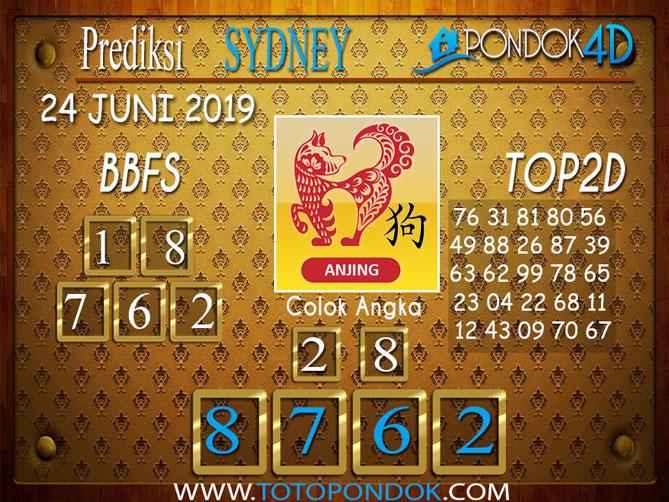 Prediksi Togel SYDNEY PONDOK4D 24 JUNI 2019