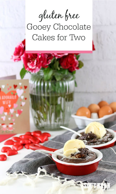 Easy Gluten Free Gooey Chocolate Cake Recipe for Two - Gluten Free Molten Lava Cake, Healthy Valentine's Day Desserts, Gluten Free, Sugar Free, Low Fat