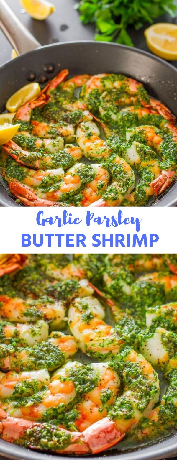 Garlic Parsley Butter Shrimp