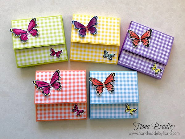 Sticky Note Holders with Butterflies