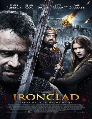 Poster Of Ironclad 2011 English 350MB BRRip 576p ESubs Watch Online Free Download downloadhub.net