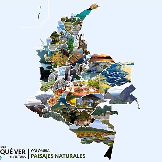 mapa paisajes naturales de colombia
