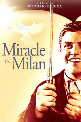 Miracle in Milan (1951) movie directed by Vittorio De Sica. One of the great films   Miracle in Milan (1951) is an Italian fantasy (magical) film directed by Vittorio De Sica in 1951.   A great filmmaker only can make a great film. I love it greatly. Because the idea of magical thing in 1951 is incredible. My rating is always 10/10. I have seen such a great film after a long time. Specially, Vittorio De Sica is one of the great filmmakers to me. But I didn't think such a good film he will make. There are some special scenes that are very important to me. These are; when all the people are busy with their dreams and tell to Toto for their demands. He is fulfilling the demands of the people but his lover or his dream Edvige is outside. She is staying outside but can't speak anything to her only lover or dream man. He is getting sorrow. At the last scene when they all are going or flying; Edvige is seated behind Toto. At last their dream was turned into reality. Everyone saw it. It was also the best scene to me. However, one word is very important that Freedom is easy but its respect is difficult to hold. Pigeon is such kind of freedom. It should be kept in private place and should control it for a better and happy life.