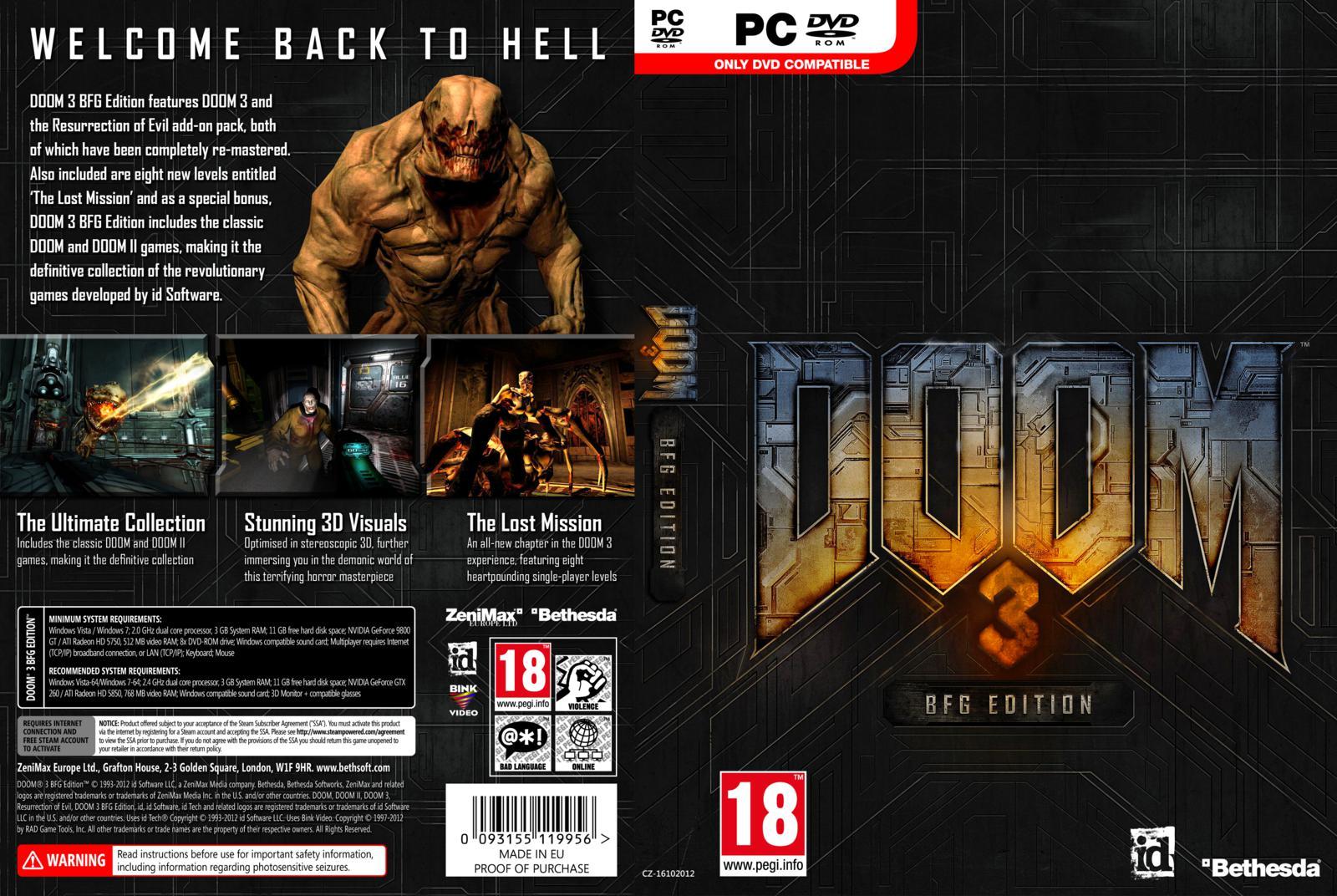 Doom 3 bfg edition pc.