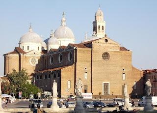 The Basilica di Santa Giustina can be found off Padua's square, Prato della Valle