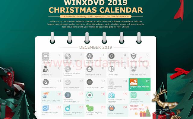 WinXDVD Christmas Calendar 2019 pagina web