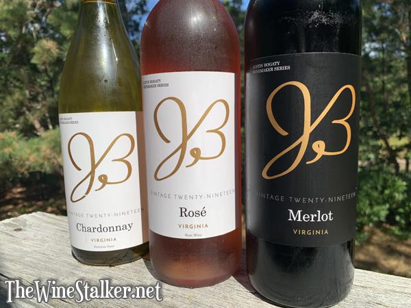 Justin Bogaty Winemaker Series ~ Chardonnay 2019, Rosé 2019, Merlot 2019