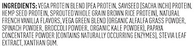 Ingredients Vega Protein Smoothie Vanilla Review
