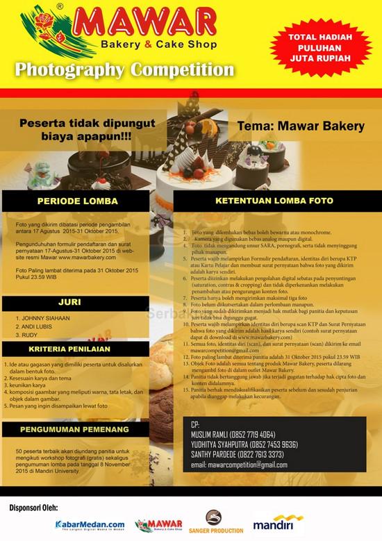 Kontes Foto Mawar Bakery Berhadiah Total 27 Juta Rupiah