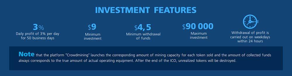 Инвестиционные планы Crowdmining
