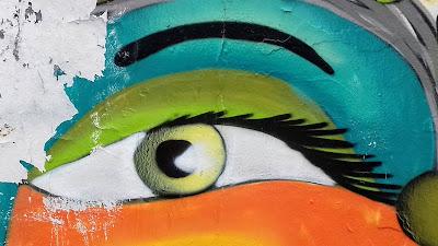 Graffiti-Auge