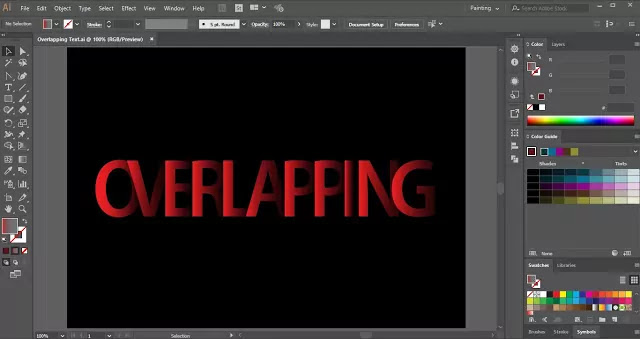Overlapping-Text