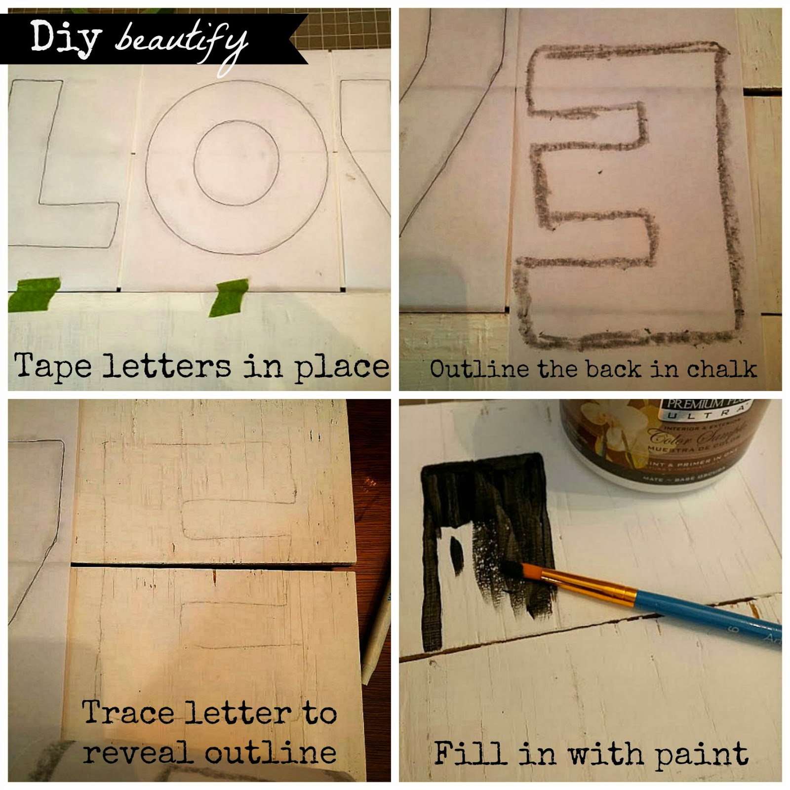 transfer words to wood