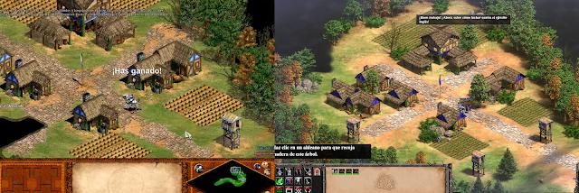 Imagen comparativa de Age of Empires II  y Age of Empires II Definitive Edition