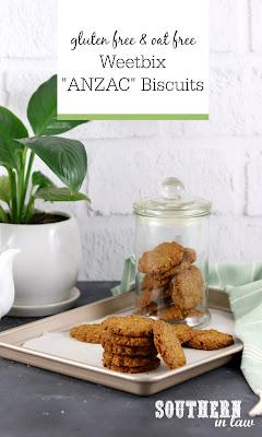 Gluten Free Weetbix ANZAC Biscuits Recipe