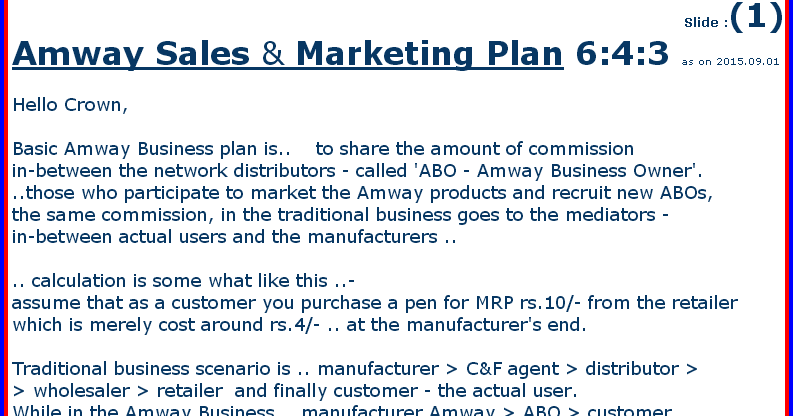 AMWAY - PowerPoint PPT Presentation
