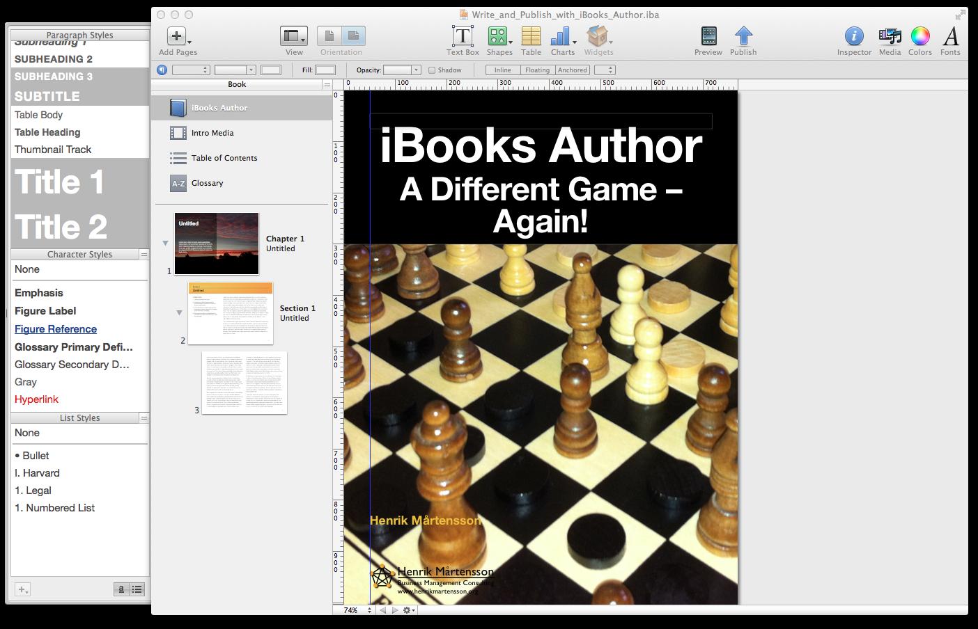 Kallokain: iBook Author – Apple Changes the Game Again!