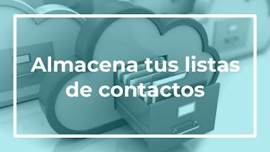 Donde guardar sus listas de contactos