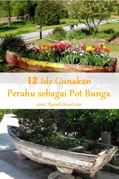 12 Ide Tanam Bunga di Perahu Bekas