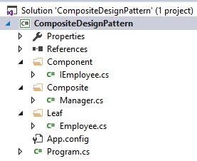 composite design pattern implementation in .net c#