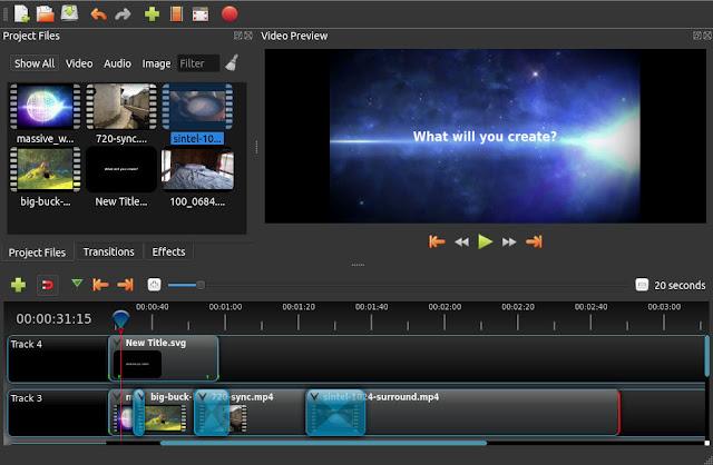δωρεάν προγράμμα επεξεργασίας video: OpenShot Video Editor