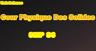 Cours De Physique Des Solides SMP S6 PDF