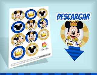 Imprimibles Gratuitos de Mickey Mouse Príncipe
