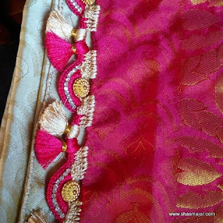 saree kuchu with beads