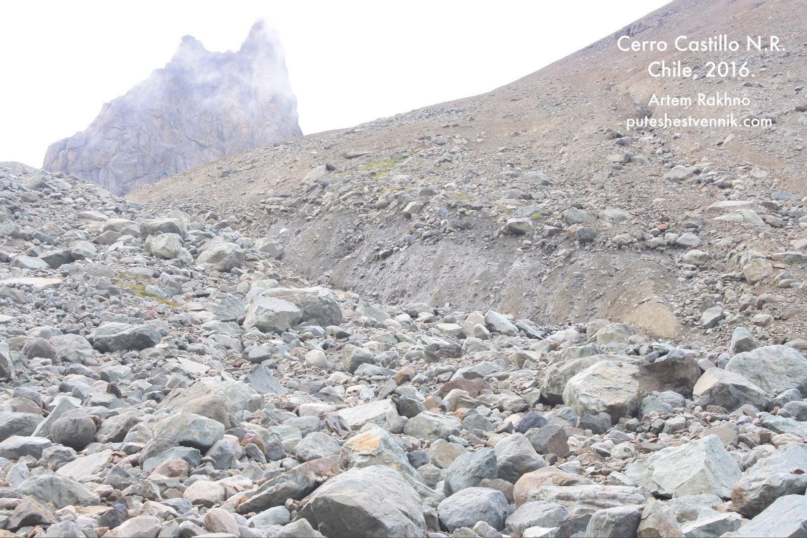 Осыпь с крупными камнями