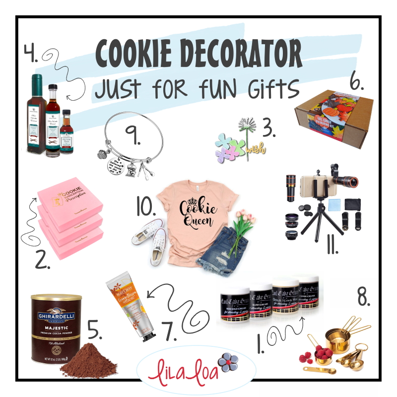 Best and fun gift list ideas for cookie baking and decorating enthusiasts