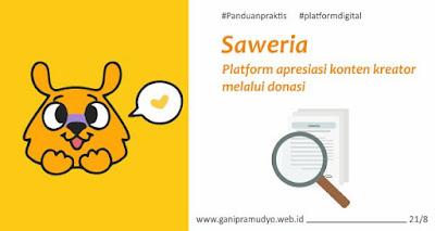 Saweria - platform donasi konten kreator
