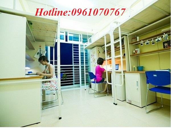 Giường tầng giá thấp Xuân Hòa với kết cấu cứng cáp